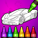 🚗 Learn Coloring & Drawing Car Games for Kids  🎨 APK MOD 7.0