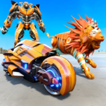 Lion Robot Transform Bike War : Moto Robot Games APK MOD 1.6