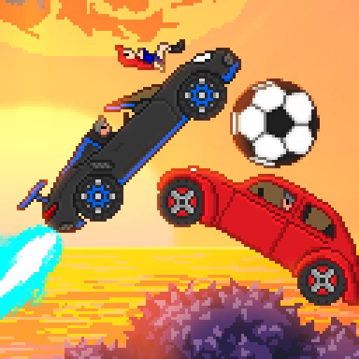Pixel Boost League – 2D Rocket Powered Car Soccer APK MOD 1.7.1