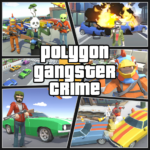 Grand City Theft War: Polygon Open World Crime   APK MOD 2.1.7