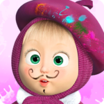 Masha and the Bear: Free Coloring Pages for Kids APK MOD 1.6.9