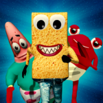 SPONGE FAMILY NEIGHBOR 2: SQUID ESCAPE 3D GAME APK MOD 1.9