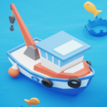 Fish idle: hooked tycoon. Fishing boat, hooking APK MOD