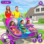 New Mother Baby Triplets Family Simulator APK MOD